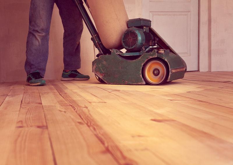 Holzfußboden Schleifmaschine